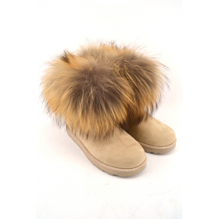 BOOTS WITH NATURAL FUR