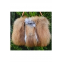 LEATHER BAG WITH NATURAL FUR