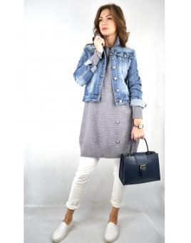 Gestrickte Tuniken / lange Pullover