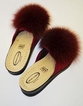 Kožešinové pantofle